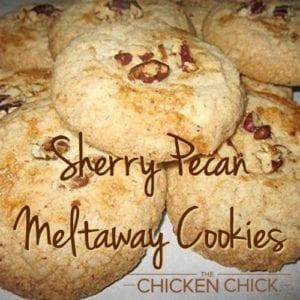 Sherry Pecan Meltaway Cookies