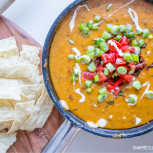 Spicy Skillet Linguica Queso Dip, shared by Sweet C's