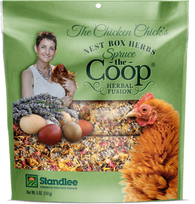 The Chicken Chick's Spruce the Coop® Herbal Fusion nest box herbs