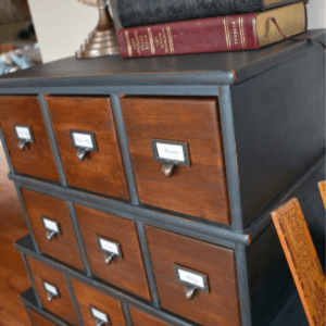 Vintage Inspired Apothecary Cabinet, shared by Let's Get Crafty
