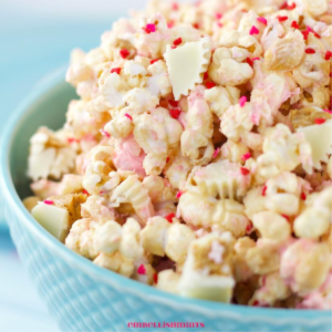 White Chocolate Peanut Butter Popcorn, shared by Embellishmints