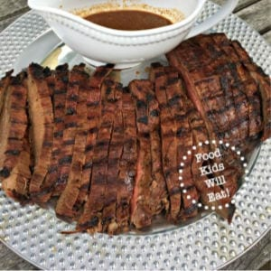 Asian Style Grilled Flank Steak, shared by Mom of 6
