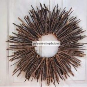 Autumn Stick Wreath, shared by Simple Joys