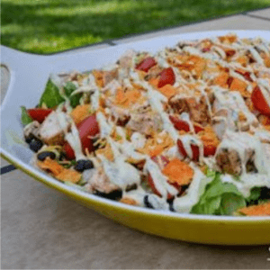 Avocado Ranch Lime Chicken Salad, shared by Sunflowers Supper Club