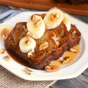 Banana Bread French Toast, shared by Delightful E Made