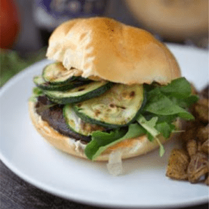 Blackened Portobello Burger, shared by Small Green Kitchen