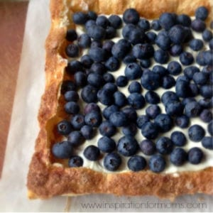 Blueberry Tart, shared by Inspiration for Moms