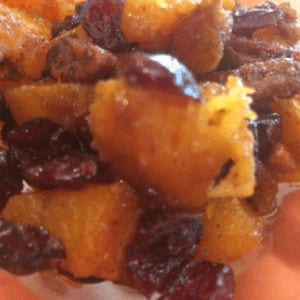 Candied Butternut Squash with Cranberries and Pecans, shared by Gluten Free A-Z