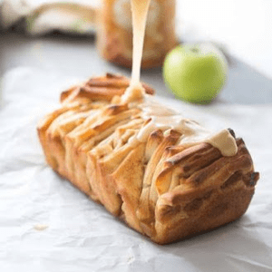 Caramel Apple Pull-Apart Bread, shared by Lemons for Lulu