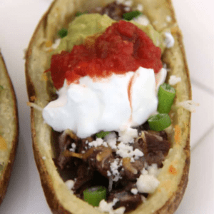 Carne Asada Potato Skins, shared by Made with Happy