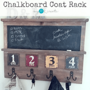 Chalkboard Coat Rack, shared by My Love 2 Create