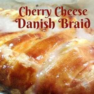Cherry Cheese Danish Braid shared by Reviews, Chews & How-Tos