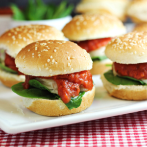 Chicken Parmesan Sliders, shared by Home Cooking Memories