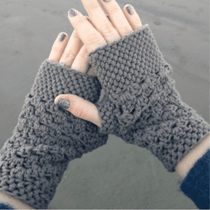 Chunky Fingerless Gloves Free Crochet Pattern, shared by Domestic Bliss Squared