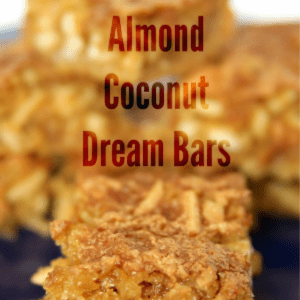 Coconut Almond Dream Bars, shared by Oh Mrs. Tucker!