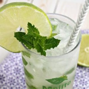 Coconut Key Lime Mojito, shared by Frugal Foodie Mama