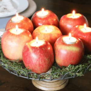 DIY Apple Candles, shared by Designer Trapped in a Lawyer's Body