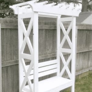 DIY Bench Arbor, shared by My Love 2 Create