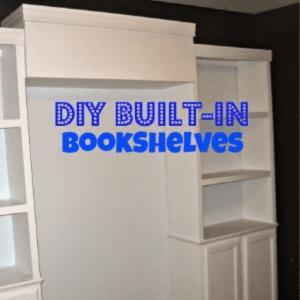 DIY Built-in Bookshelves, shared by Inspiration for Moms