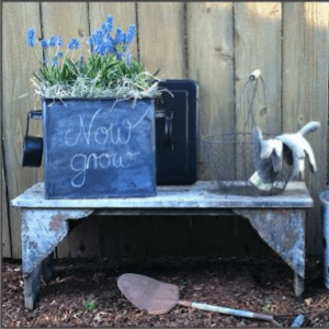 DIY Chalk Paint Planter, shared by Little Brags