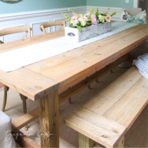 DIY Farmhouse Table shared by Turquoise House