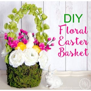 DIY Floral Easter Basket shared by The Scrap Shoppe