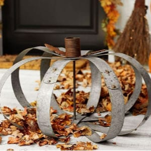 DIY Galvanized Pumpkin, shared by The Navage Patch
