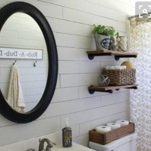 DIY Industrial Pipe Shelving shared by Repurpose and Upcycle