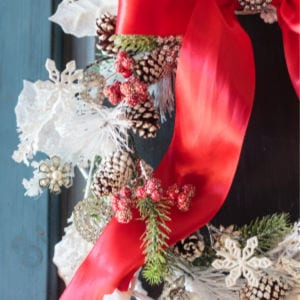 DIY Jeweled Christmas Wreath, shared by Atta Girl Says