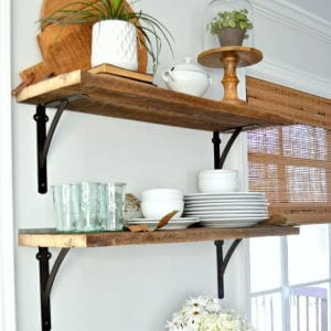 DIY Kitchen Open Shelves for Under $50 shared by Chatfield Court
