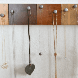 DIY Necklace Holder, shared by Creating Really Awesome Free Things