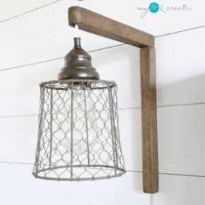 DIY Plug-in Sconces, shared by My Love 2 Create