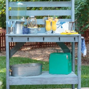 DIY Potting Bench, shared by Atta Girl Says