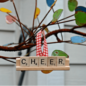 DIY Scrabble Tile Ornaments, shared by Simply Darrling