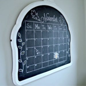 DIY Vintage Mirror into Chalkboard, shared by Chatfield Court