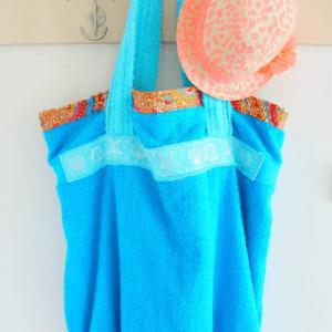 Easy DIY Towel Beach Bag, shared byThe Seaman Mom