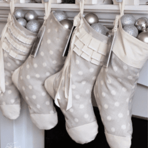 Easy Personalized Christmas Stockings, shared by Fynes Designs