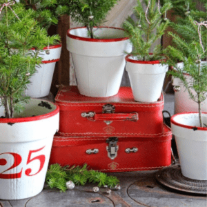 Enamel Inspired Christmas Pots, shared by Fynes Designs