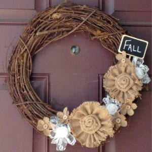 Fall Burlap & Lace Wreath, shared by Inspiration for Moms