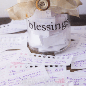 Family Blessings Jar, shared by Marty's Musings
