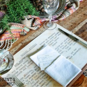 Family Heirloom Recipe Card Placemats, shared by Hunt & Host