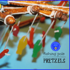 Fishing Pole Pretzels, shared by Hooplapalooza