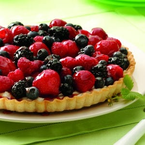 Fresh Mixed Berry Tart, shared by The Jenny Evolution