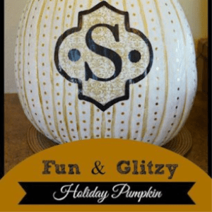 Fun & Glitzy Pumpkin, shared by Our Gilded Abode