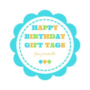 Happy Birthday Gift Tags shared by Keeping it Real
