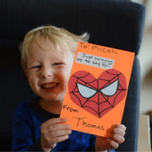 Homemade Valentines with Kids, shared by Living on Grace