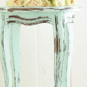 How to Distress Furniture with Vinegar, shared by White Lace Cottage