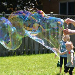 How to Make Big Bubbles, shared by One Little Project