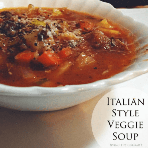 Italian Style Veggie Soup, shared by Living the Gourmet