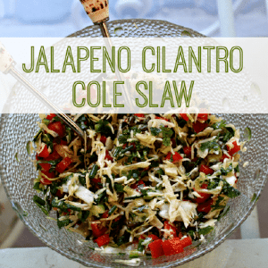 Jalapeno Cilantro Cole Slaw, shared by Table R, Party of Two